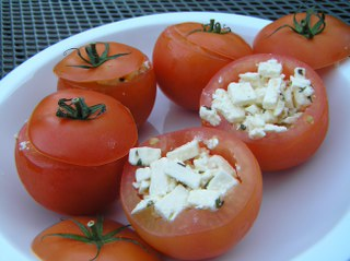 recept Barbecue tomaten met feta